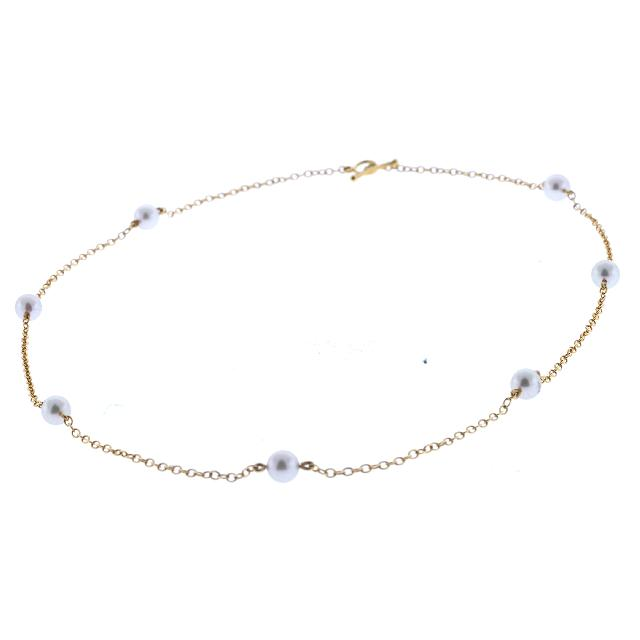 Tiffany Amp Co Elsa Peretti Pearls By The Yard Necklace 18k