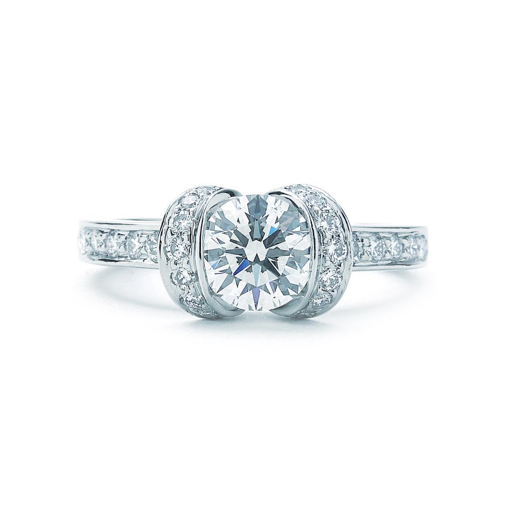 Engagement Rings York: Tiffany & Co. Ribbon Engagement Ring Platinum